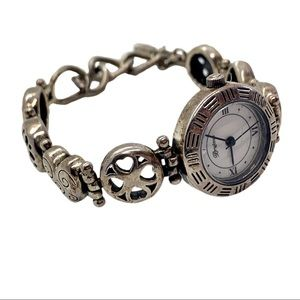 BRIGHTON SILVER TONE TOGGLE HEART WATCH